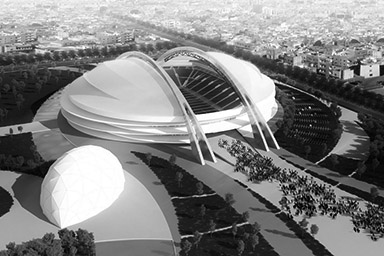 project for a new stadium in Lybia